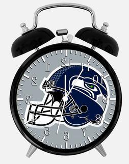 "Seattle Seahawks Alarm Desk Clock 3.75"" Home or Office Decor"