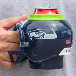 Seattle Seahawks All in One Helmet Can & Bottle Cooler, Mug