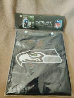 SEATTLE SEAHAWKS APRON & CHEF'S HAT for BARBECUE GAME DAY TA