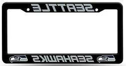 Seattle Seahawks Black Plastic Frame License Plate Tag Cover