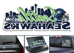 Seattle Seahawks Bumper Window Vinyl Decal 8x3