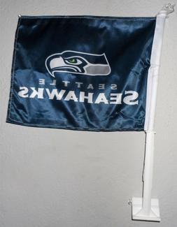 Seattle Seahawks Car Auto Flag NFL Licensed 11X14 Window Mou