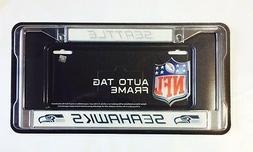 Seattle Seahawks Chrome Metal License Plate Frame - Auto Tag
