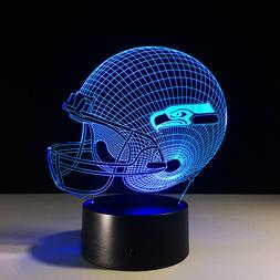 Seattle Seahawks Collectible Light Lamp Home Decor Gift Russ