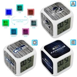 seattle seahawks digital alarm clock color change