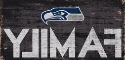 """Seattle Seahawks FAMILY Football Wood Sign - NEW 12"""" x 6""""  D"""