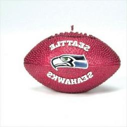 """Seattle Seahawks Football Candle NFL Wax New in Box 5"""" Long"""