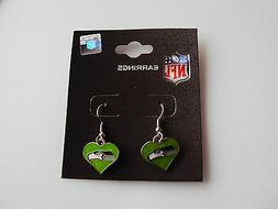 Seattle Seahawks Football GREEN Color Heart Charm NFL Silver