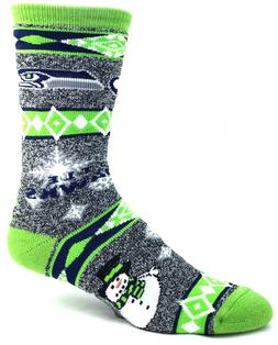 Seattle Seahawks NFL Football Ugly Holiday Snowman Sweater C
