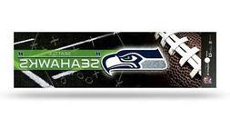 Seattle Seahawks Glitter Bumper Sticker  NFL Auto Car Truck