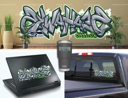 Seattle Seahawks Graffiti Vinyl Vehicle Car Laptop Wall Stic