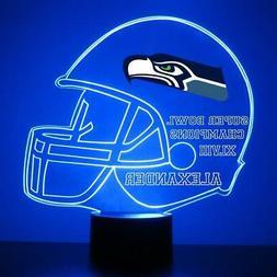 Seattle Seahawks Light Up, NFL Football LED Sports Fan Lamp,