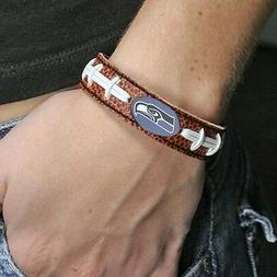 Seattle Seahawks Logo Bracelet Wristband Genuine Football Le