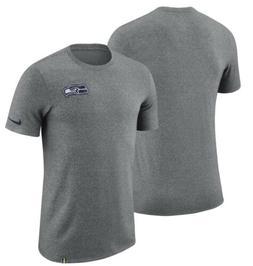 Nike Seattle Seahawks Marled Patch NFL Gray Men's Short Slee