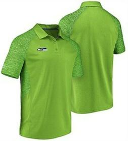 Seattle Seahawks Mens Bright Green Reflective Logo Synthetic