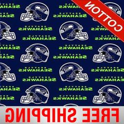 """Seattle Seahawks NFL Cotton Fabric - 60"""" Wide - Style# 6402"""