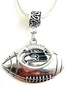 seattle seahawks nfl football charm pendant