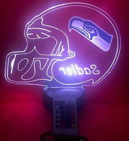 Seattle Seahawks NFL Football Light Up Lamp LED With Remote
