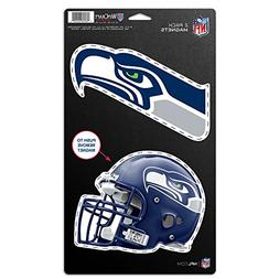 Seattle Seahawks Official NFL 5 inch x 9 inch Car Magnet 2-P