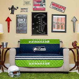 Seattle Seahawks NFL Love Seat Cover Furniture Protector Mic