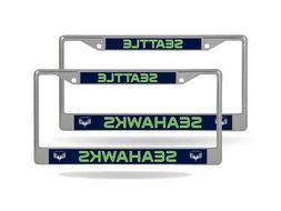 Seattle Seahawks NFL  Chrome Metal License Plate Frames