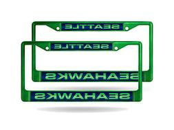 Seattle Seahawks NFL  Green Metal Laser Cut License Plate Fr