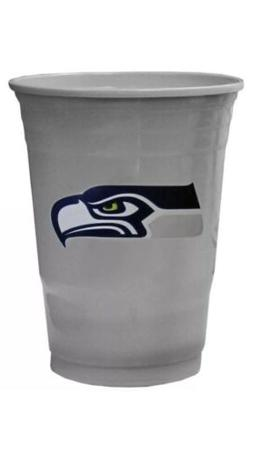 SEATTLE SEAHAWKS PLASTIC GAMEDAY CUPS 18OZ 18CT SOLO TAILGAT