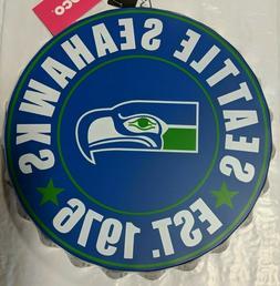 Seattle Seahawks RETRO Bottle Cap Sign - Est 1976 - Room Bar
