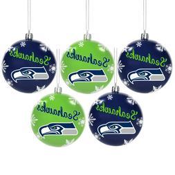 Seattle Seahawks Shatterproof BALLS Christmas Tree Holiday O