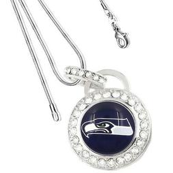 Seattle Seahawks Sterling Silver Womens Link Chain Necklace