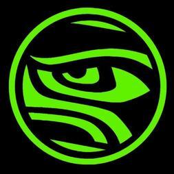 Seattle Seahawks Sticker Eye 12th Man Russell Wilson NFL Leg