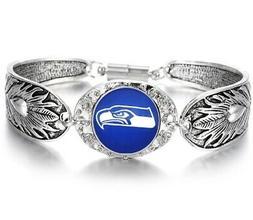 seattle seahawks women s sterling silver bracelet