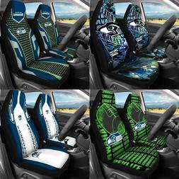 Set of Two Seattle Seahawks Car Seat Covers Universal Fit Au
