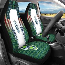 Set Of Two Seattle Seahawks Car Seat Covers Universal Truck