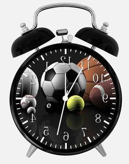 sports balls alarm desk clock 3 75