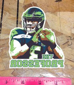 The Professor Russell Wilson Seattle Seahawks Fan Sticker De