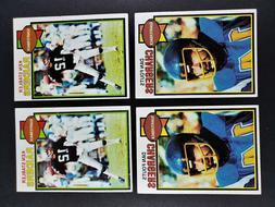 TOPPS FOOTBALL 1979 DAN FOUTS & KEN STABLER EX -NRMT 4 CARDS