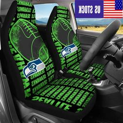 USA Seattle Seahawks 2PCS Front Car Seat Covers Truck Seat P