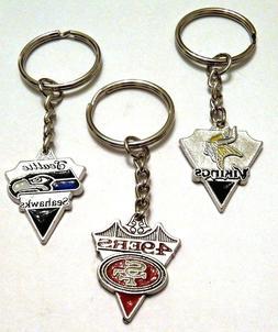 VIKINGS or SEAHAWKS Key Chains - NFL Teams US Seller FREE SH
