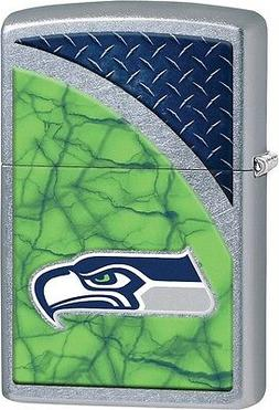 Zippo NFL Seattle Seahawks Rugged Street Chrome Windproof Li